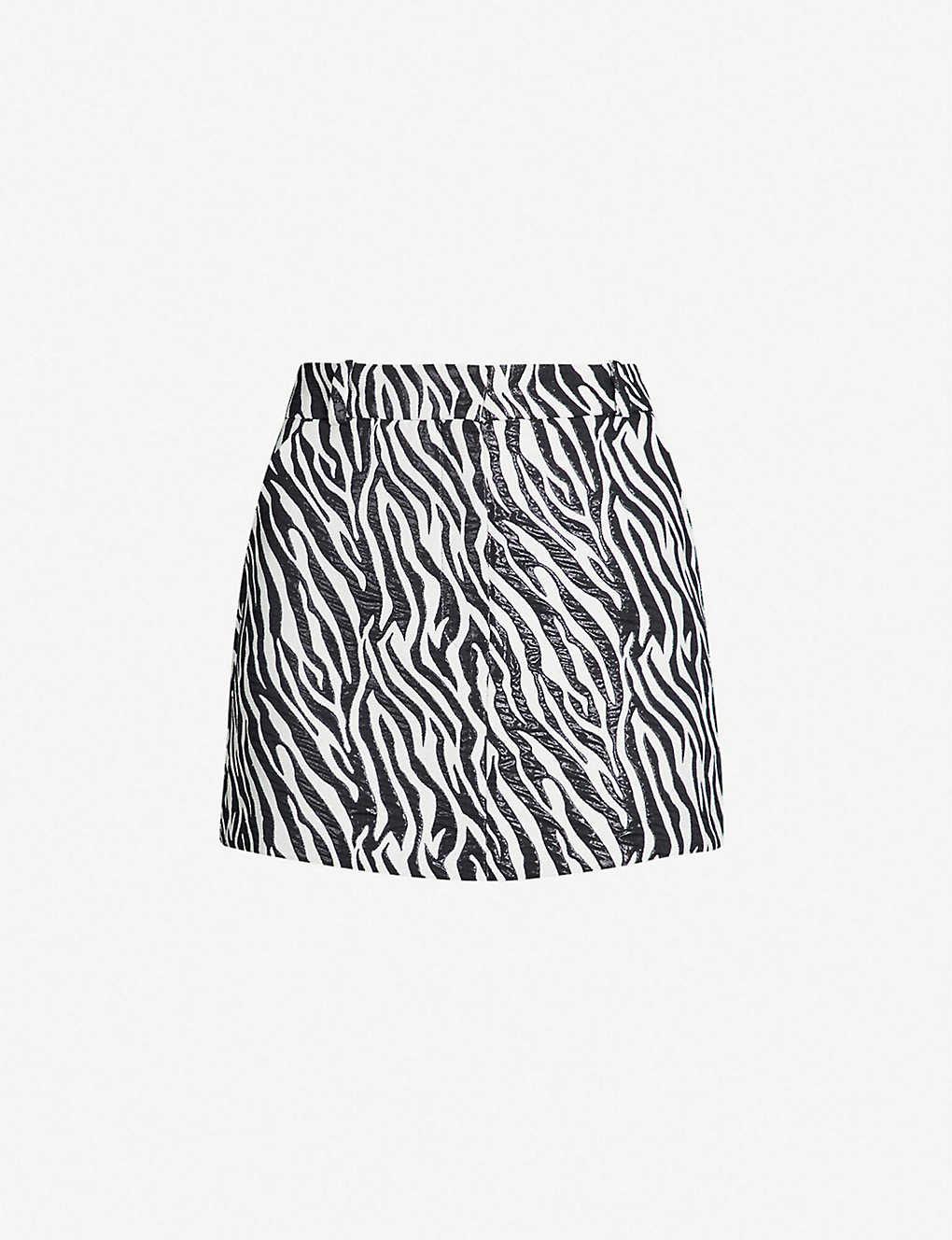 best selection of 2019 latest trends special discount TOPSHOP - Zebra-print woven mini skirt | Selfridges.com