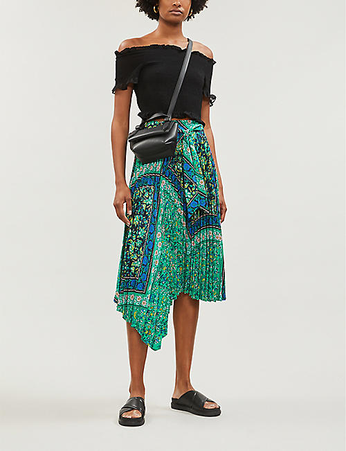 a583009d9 TOPSHOP Frida paisley-print pleated crepe skirt