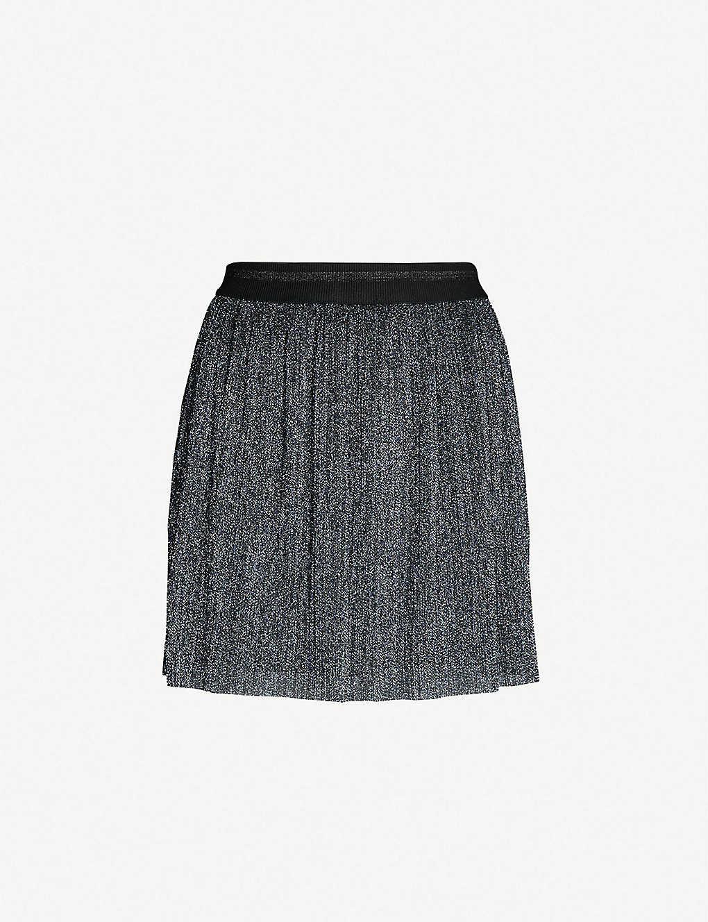 8a60219341 TOPSHOP - Plissé metallic-knit mini skirt | Selfridges.com