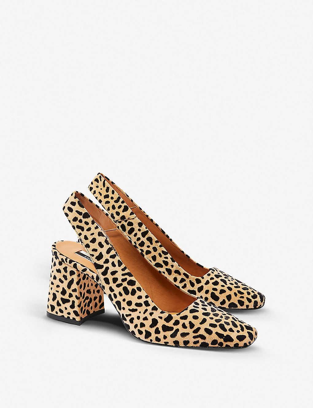 163ce0e8fc60 TOPSHOP - Gainor leopard-print leather courts   Selfridges.com