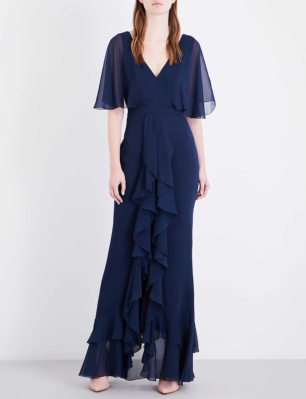 65feb5ab1c7 TOPSHOP - Angel Sleeve Ruffle chiffon maxi dress
