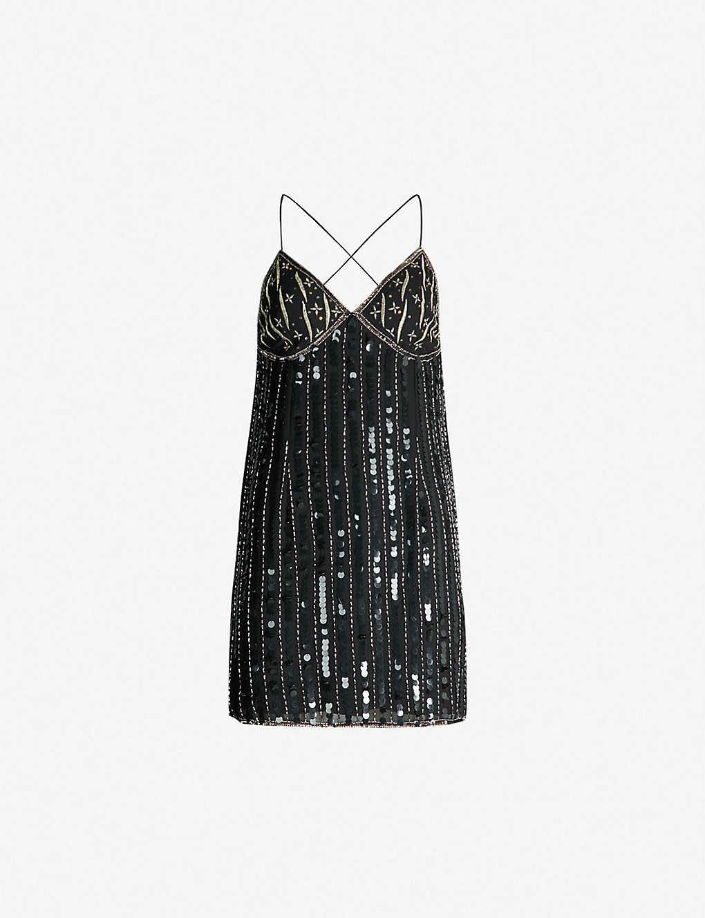 bf3708be7cbd TOPSHOP - Boutique beaded satin slip dress | Selfridges.com