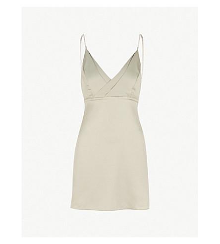77c63638bd TOPSHOP - Embellished satin mini slip dress