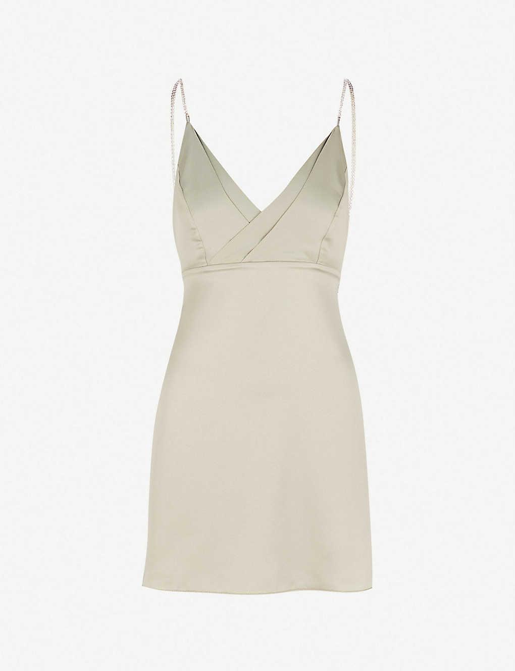2f4b4f33227a TOPSHOP - Embellished satin mini slip dress | Selfridges.com
