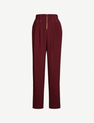 TOPSHOP Zip Slouch jogging bottoms