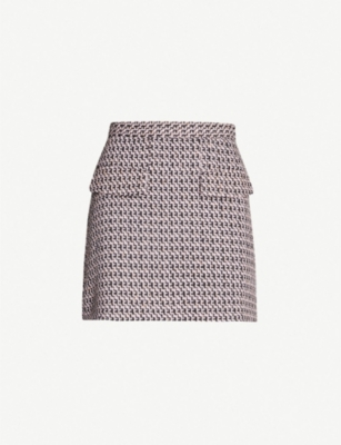 TOPSHOP Dixie snake-embossed faux-leather mini skirt