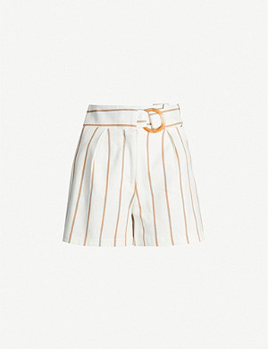 TOPSHOP Striped stretch-cotton shorts