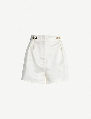 TOPSHOP Buttoned twill shorts