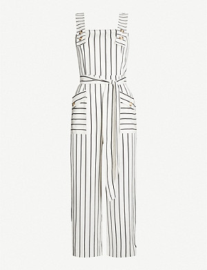 TOPSHOP Striped waist-tie jumpsuit