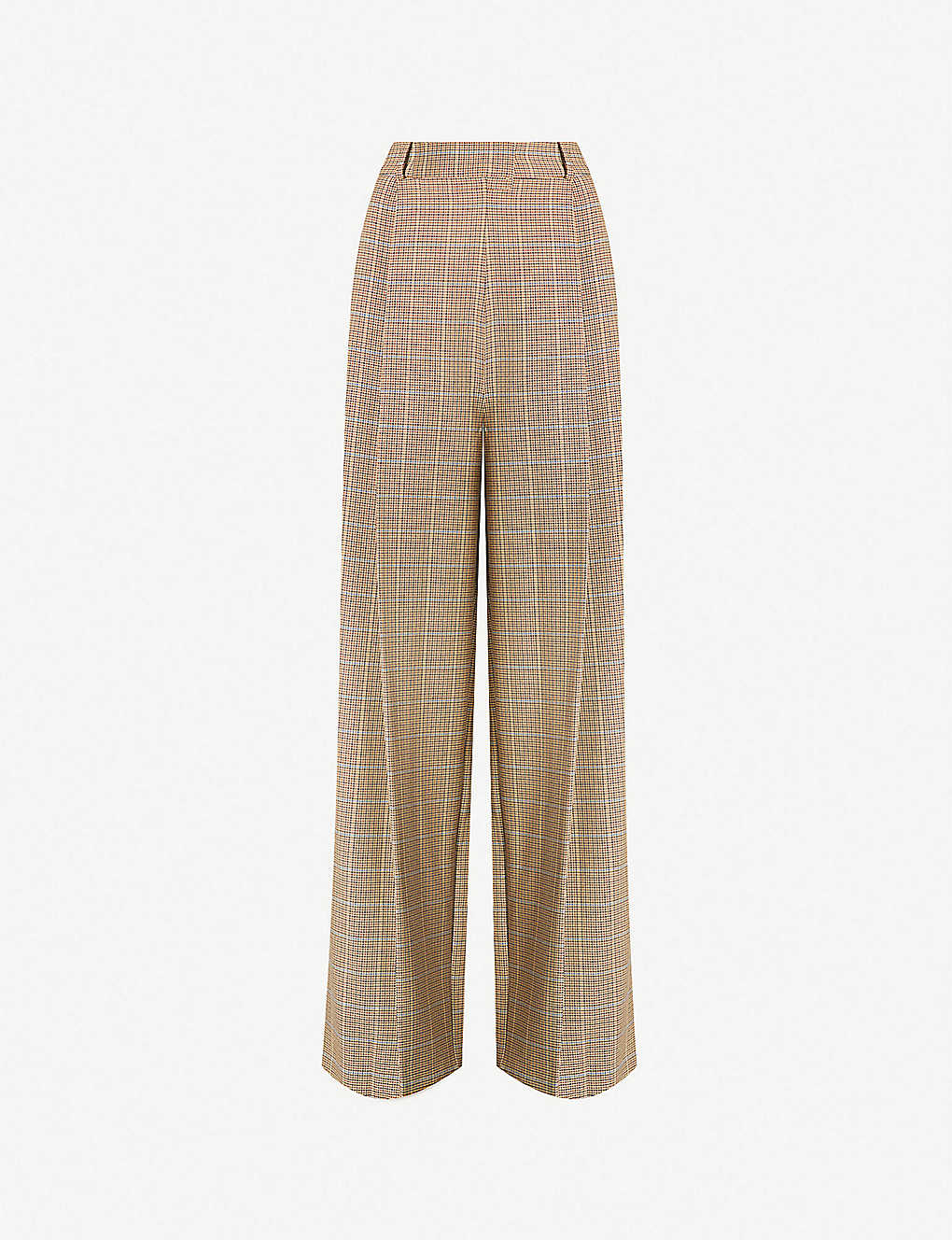 speical offer special section amazon TOPSHOP - Checked wide-leg crepe trousers   Selfridges.com
