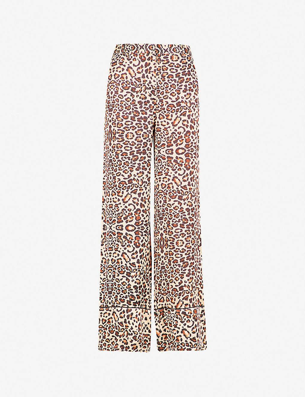 8a0a015a921f TOPSHOP - Leopard-print satin trousers | Selfridges.com