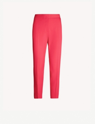 TOPSHOP High-rise cropped cigarette trousers