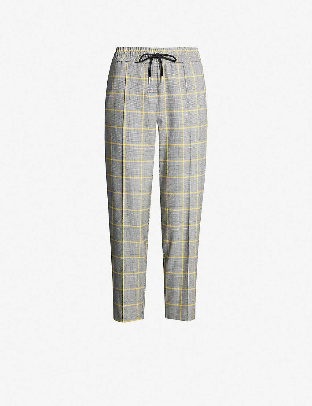 Check Woven Trousers