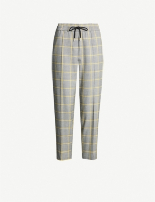 TOPSHOP Prince of Wales check woven trousers