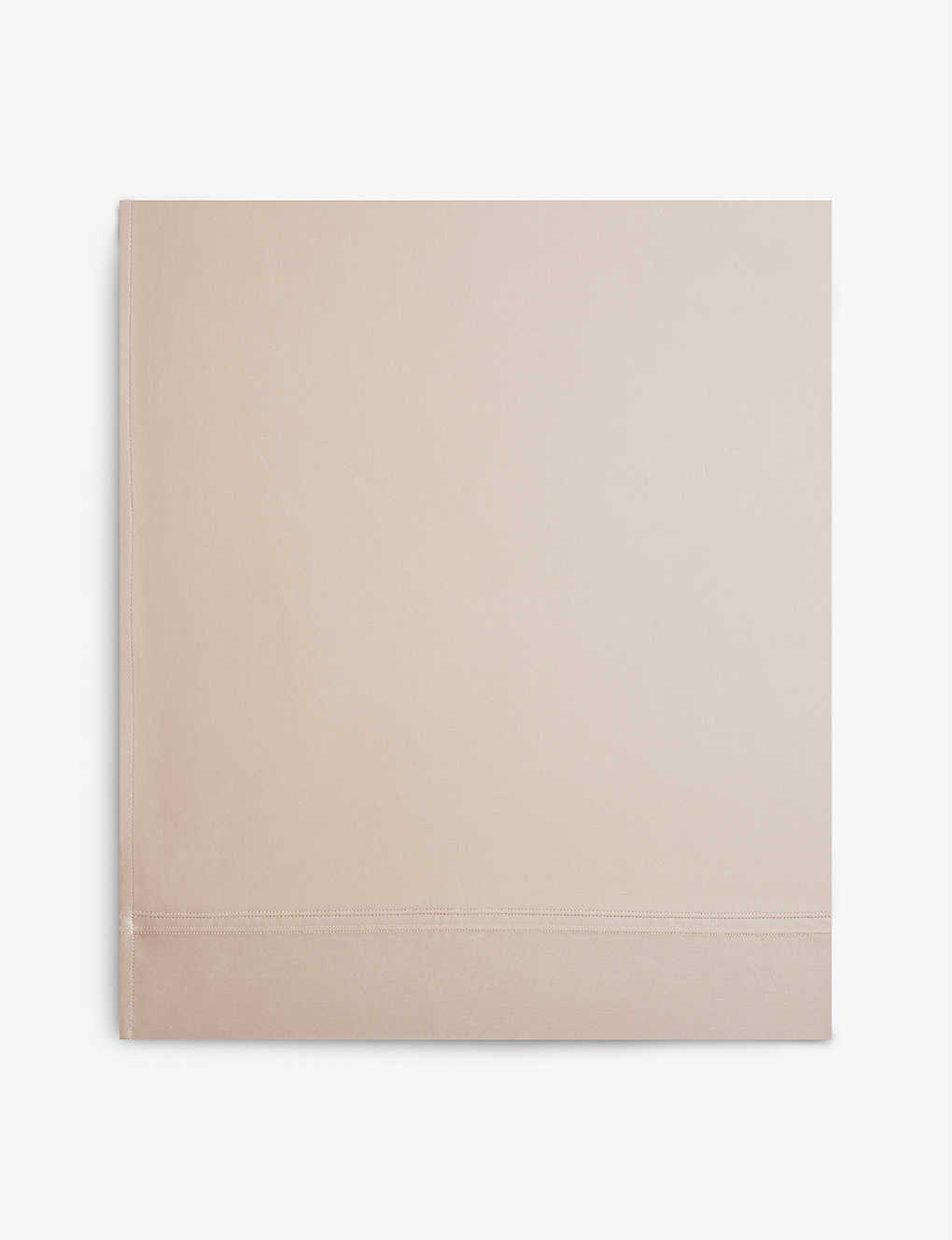YVES DELORME: Triomphe Pierre cotton flat sheet