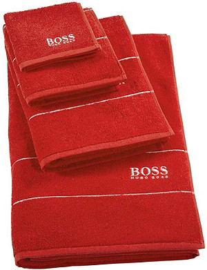 BOSS Plain egyptian cotton bath mat