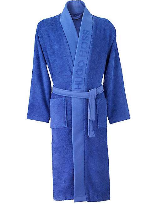 BOSS Plain kimono cotton dressing gown