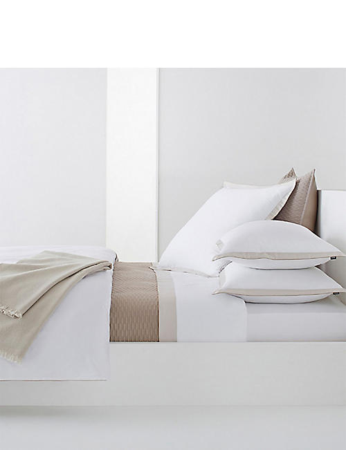 BOSS Lord nacre double cotton flat sheet