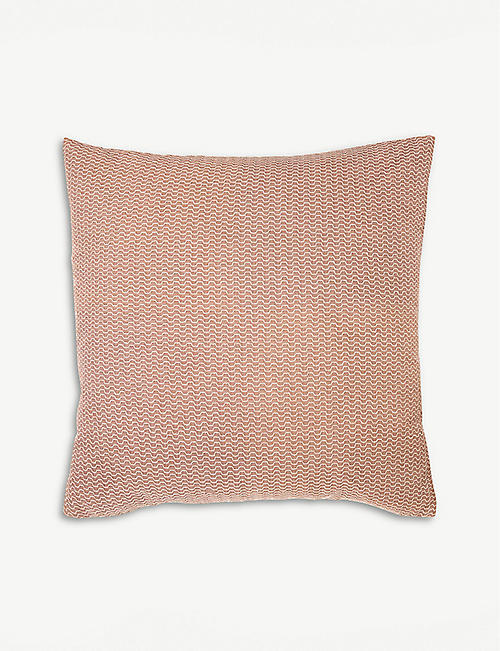 BOSS Windroses silk organza embroidered cushion cover 42x42cm