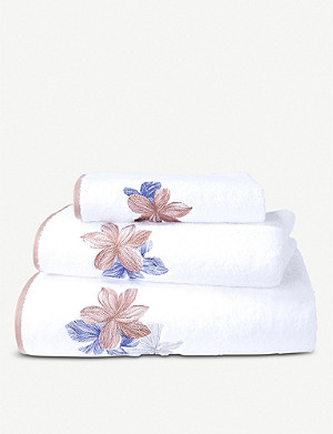 BOSS Windrose cotton bath towel 150cm x 92cm