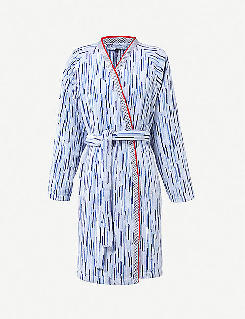 4c2ba35961 BOSS Lighthouse striped cotton robe. Quick view Wish list