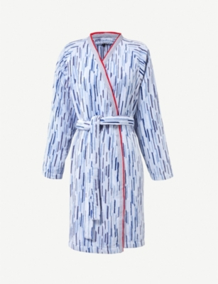 BOSS Lighthouse striped cotton robe