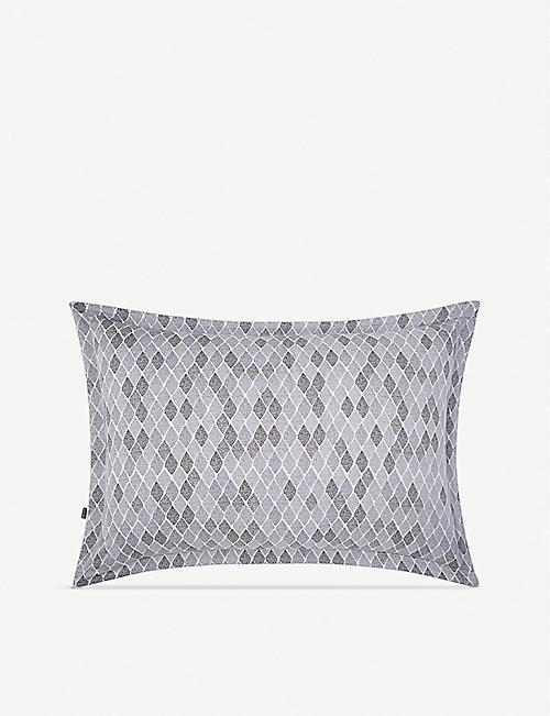 BOSS Filigree cotton-sateen standard pillowcase 50x75cm