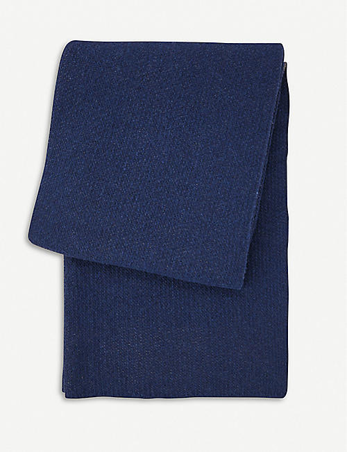 BOSS Zermat wool-cashmere blend reversible throw 130x170cm
