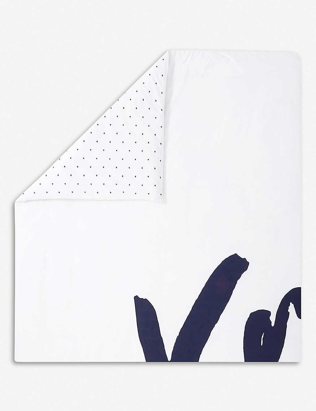 75b73195ed KENZO - Signe cotton king duvet cover 220cmx240cm | Selfridges.com