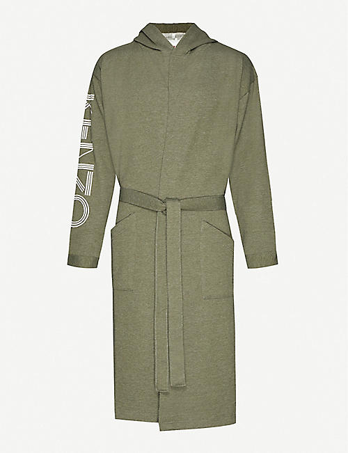 KENZO: Logo cotton-jersey dressing gown