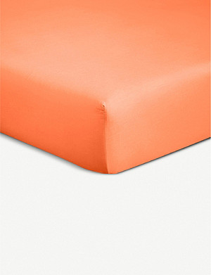 BOSS Alcove Orange cotton super king fitted sheet 200x180cm