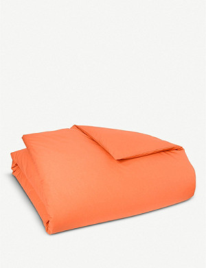 BOSS Alcove Orange cotton single duvet cover 200x140cm