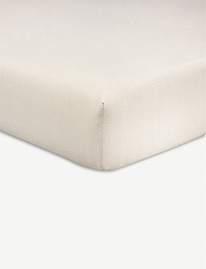 OLIVIER DESFORGES Antonio cotton king fitted sheet 160x200cm