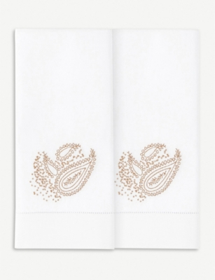 YVES DELORME Apparat jacquard cotton towel