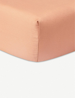 YVES DELORME Apparat cotton sateen fitted sheet range