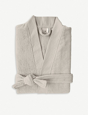 YVES DELORME Pierre cotton-blend robe