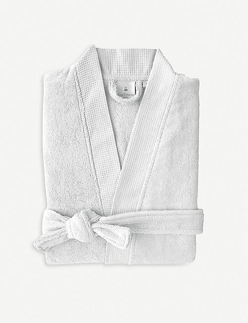 YVES DELORME Silver cotton-blend bathrobe
