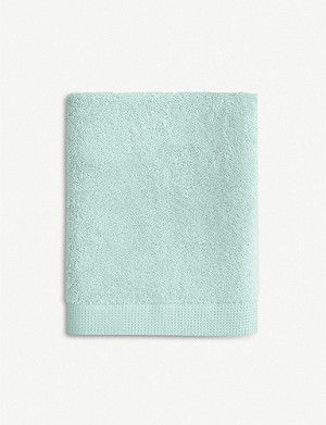 YVES DELORME Étoile Celadon cotton bath sheet
