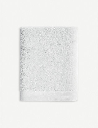 YVES DELORME: Étoile Silver cotton hand towel