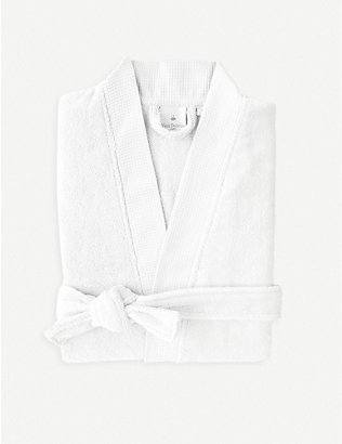 YVES DELORME: Astreena cotton-blend bathrobe