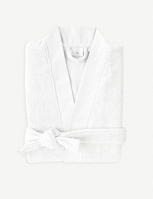 YVES DELORME Astreena cotton-blend bathrobe