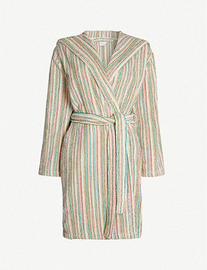 YVES DELORME Balades cotton-towelling bathrobe