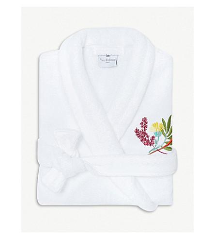 YVES DELORME Bouquets cotton-blend robe (Multi e07c0c1a5