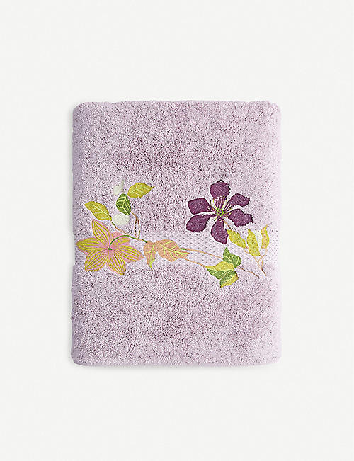 YVES DELORME Clematis nuage bath sheet