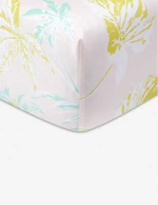 YVES DELORME Ete tropical-print cotton-sateen fitted sheet