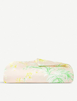 YVES DELORME Ete tropical-print silk bed runner 80x200cm