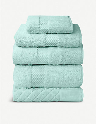 YVES DELORME: Étoile cotton blend bath towel 70 x 140 cm