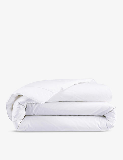 YVES DELORME: Flandre Nacre cotton super king duvet cover 260x220cm