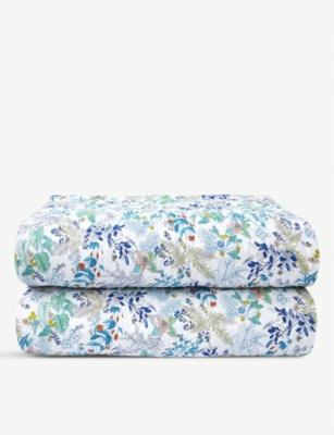 YVES DELORME Flora printed cotton-percale bedspread