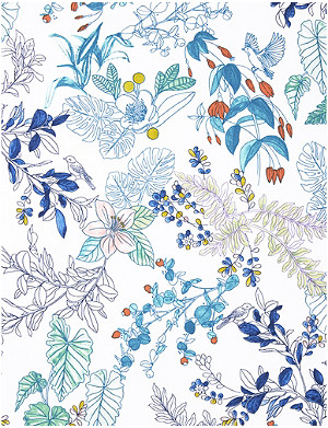 YVES DELORME Flora cotton-percale flat sheet